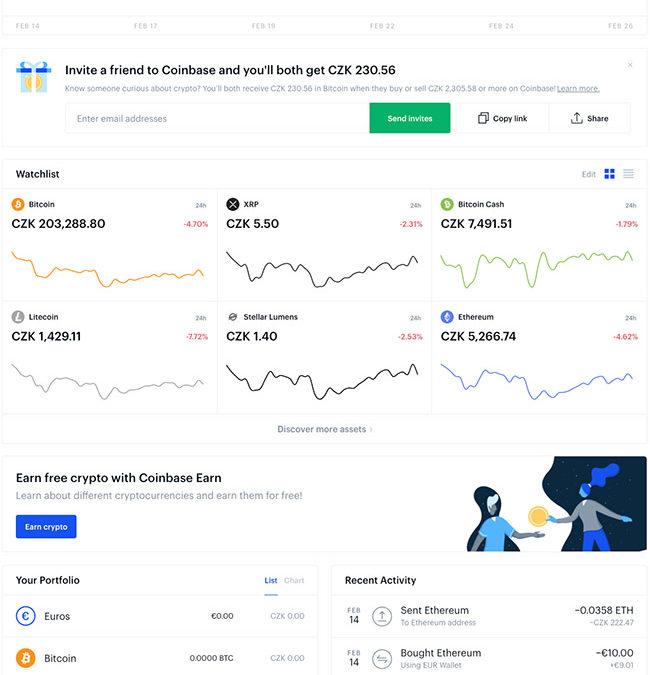Coinbase – směnárna kryptoměn