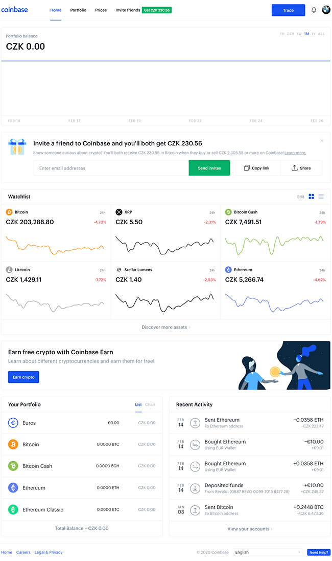Coinbase.com - web platform