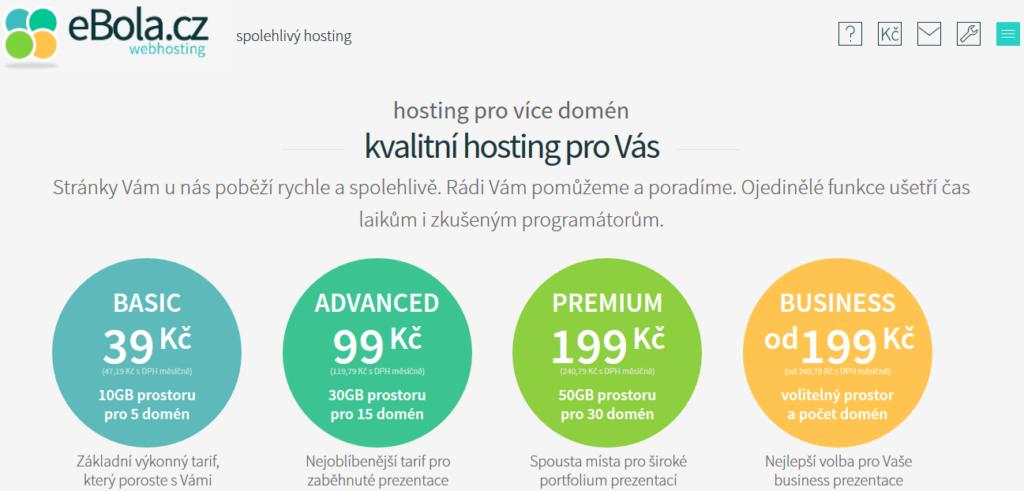 eBola vynikajicí hosting