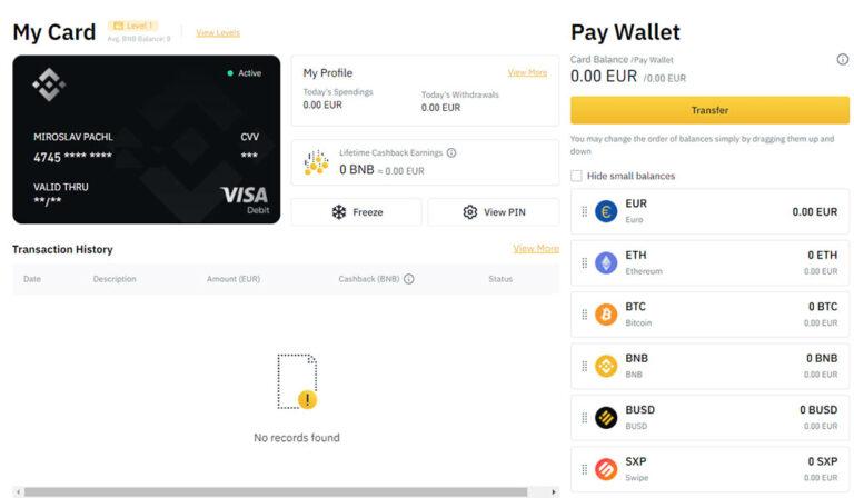 Binance Crypto Visa Card